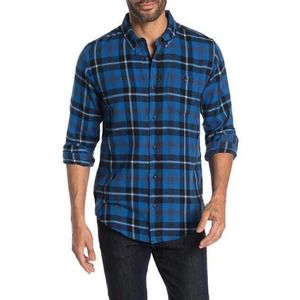 Ezekiel Spade Plaid Regular Fit Shirt XXL Blue